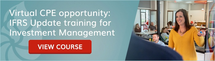 Virtual CPE opportunity: IFRS Update training for Investment Management