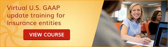Virtual U.S. GAAP update training for Insurance entities