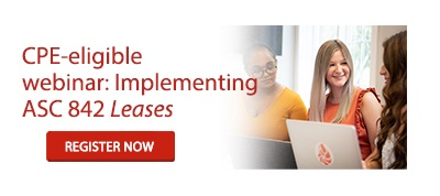 CPE-eligible webinar: Implementing ASC 842 Leases