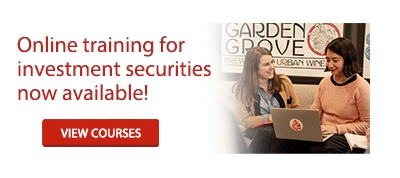 Online training for investment securities now available!