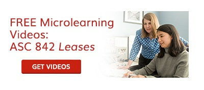 Free microlearning videos: ASC 842 Leases