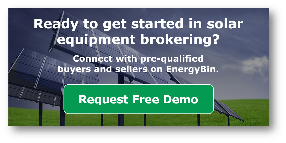 Get started in solar equipment brokering_EnergyBin demo request