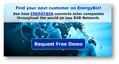 Request a demo of EnergyBin and connect to your next customer.