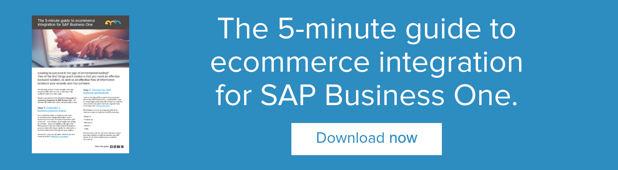The 5-minute guide to ecommerce integration for SAP Business One