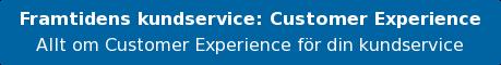 Framtidens kundservice:Customer Experience Allt om Customer Experience för din kundservice