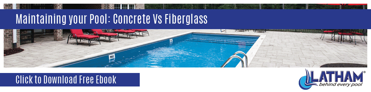 Pool Maintenance Concrete vs Fiberglass Banner