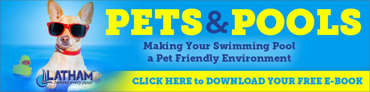 Pets love pools too!  Create a safe environment for your pets.