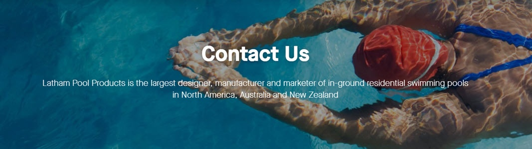 Latham Pool Products Contact Us to access inground swimming pool related resources