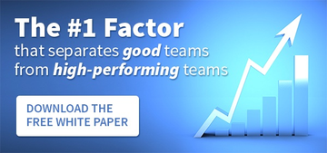 The #1 Factor that Separates Good Teams from High-Performing Teams DOWNLOAD THE WHITE PAPER