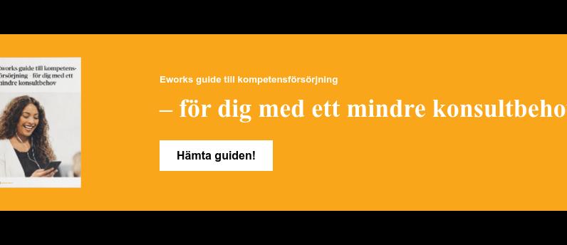 Eworks guide till kompetensförsörjning  – för dig med ett mindre konsultbehov Hämta guiden!