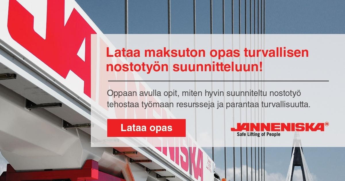 Lataa maksuton opas turvallisen nostotyön suunnitteluun | Janneniska