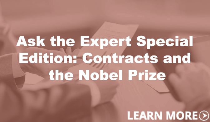 Ask the Expert Special Edition: Contracts and the Nobel Prize