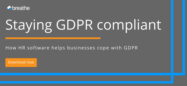 Staying GDPR compliant with HR software