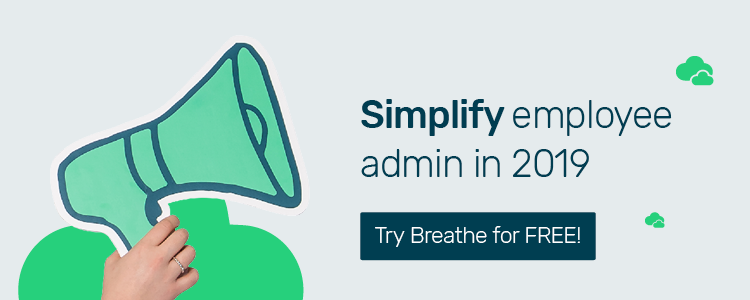 Simlify employee admin in 2019 with Breathe_Free trial