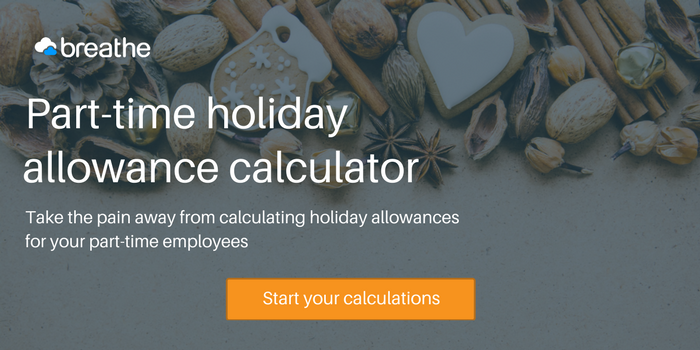 Part-time holiday calculator