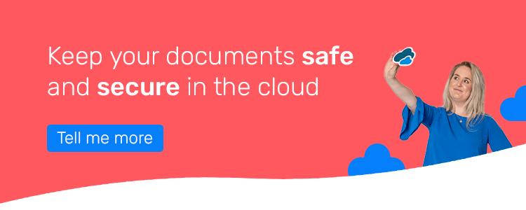 Safe document storage CTA