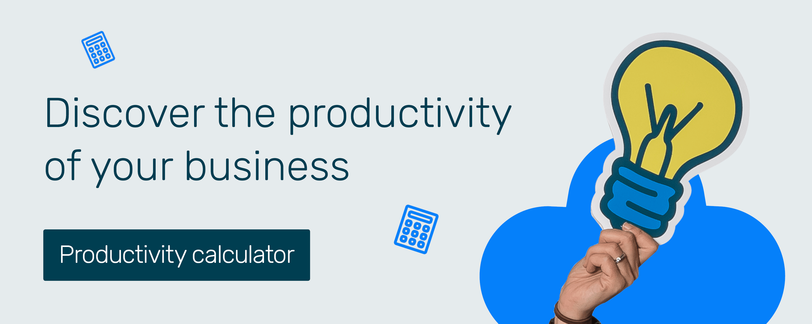 Productivity calculator CTA