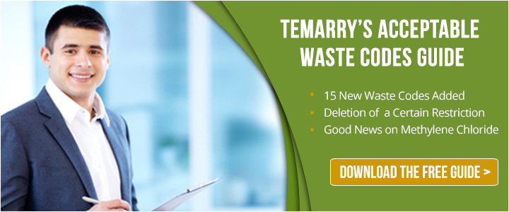 Acceptable Waste Codes Guide | Temarry Recycling
