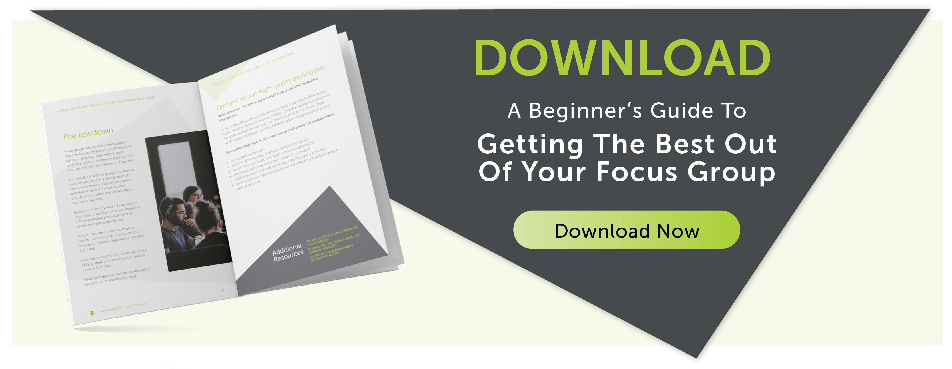 CTA Banner: A beginner's guide to getting the best out of your focus group