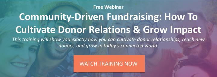 Community-Driven Fundraising Webinar