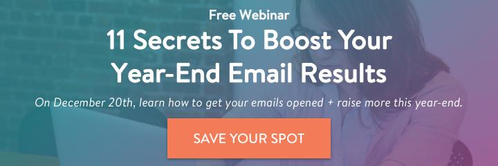 Fundraising Email Tips Webinar