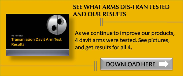 DIS-TRAN Davit Arm Results