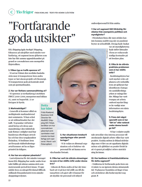 Sjöfartstidningen interview