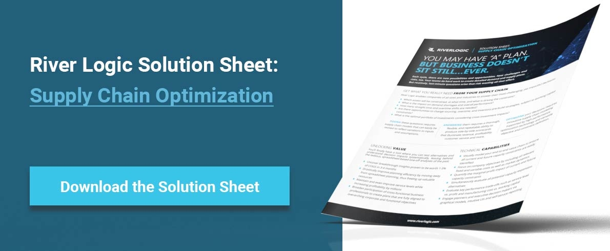 River Logic Solution Sheet: Supply Chain Optimization
