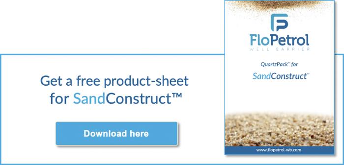 Sandconstruct for barrier behind casing