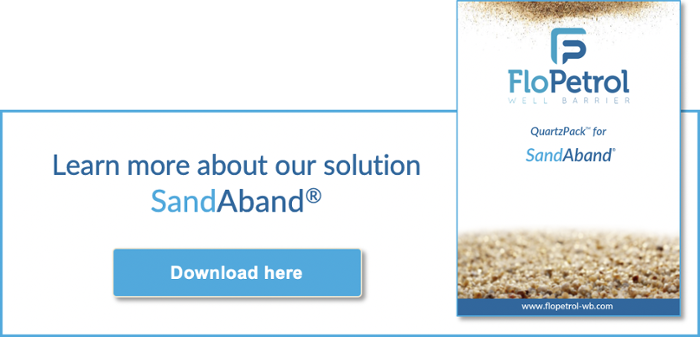Sandaband for plug and abandonment of wells in the oil and gas industry