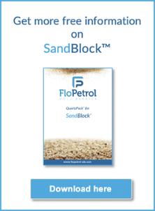 Quartzpack for SandBlock uses quartz-particles found in nature to plug wells
