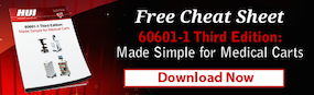 60601 Third Edition Medical Carts Cheat Sheet