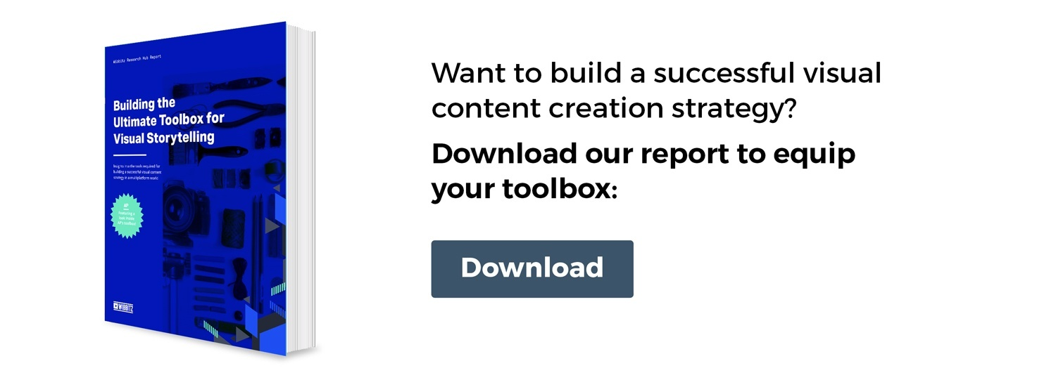 Want to build a successful visual content creation strategy? Download our report to equip your toolbox.