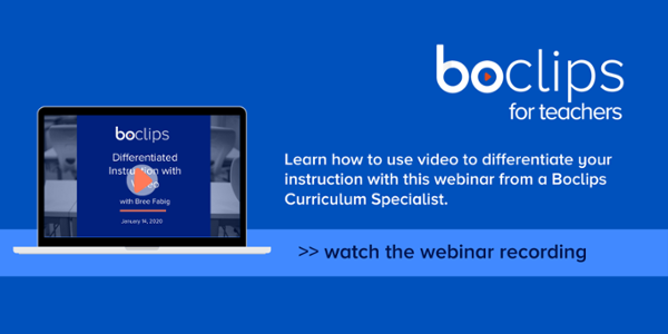 Watch the Differentiated Instruction webinar recording