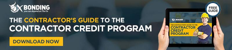 Contractor's guide to Contractor Credit Program