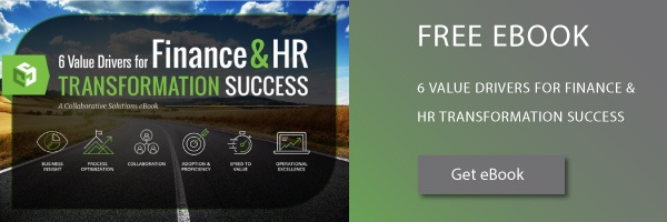 Finance and HR Transformation Value Drivers
