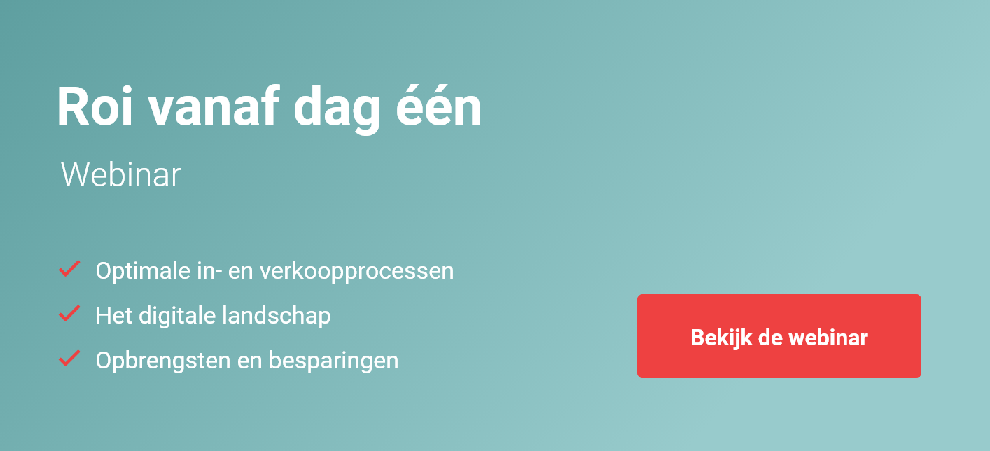 Webinar Propellor over de ROI van een B2B e-commerce portal