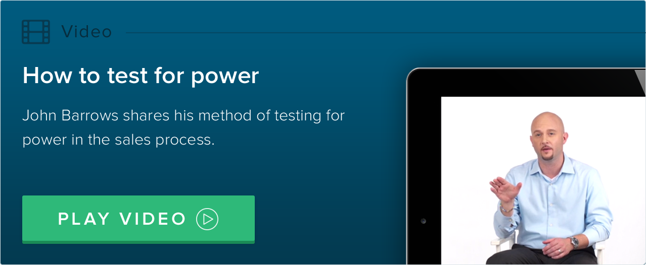 how to test for power in the sales process