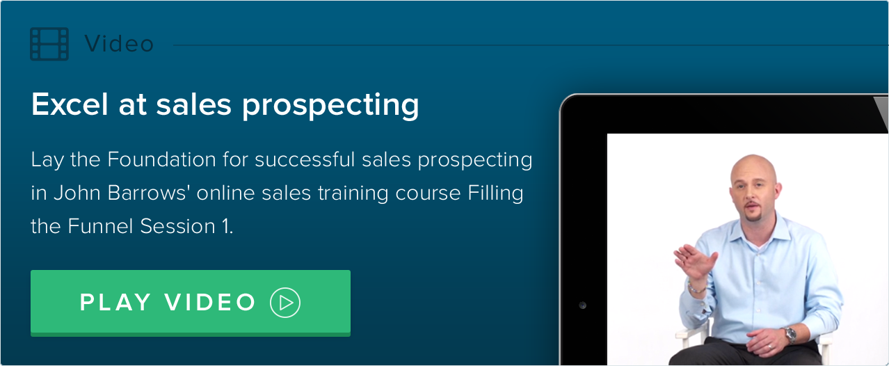 excel at sales prospecting