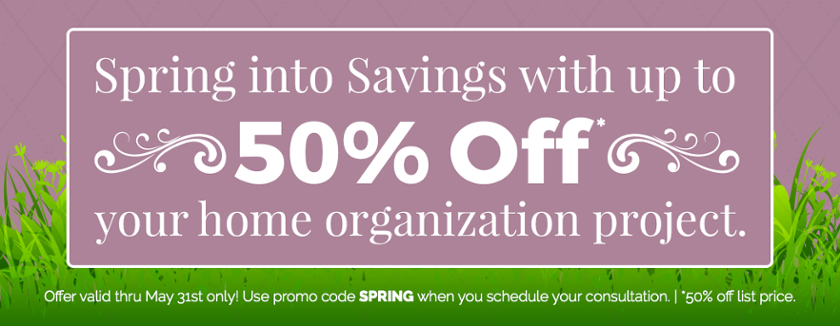 Spring into Savings 50% Off Promotion