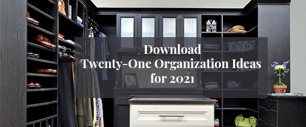 Twenty-one organization ideas for 2021 banner