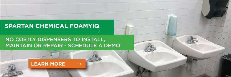 foamyiQ - No Costly Dispensers to Install, Maintain, or Repair
