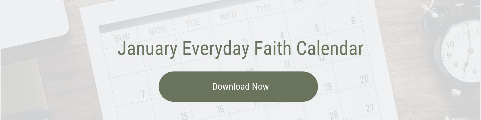 January 2019 Everyday Faith Calendar