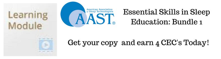 Essential skills in sleep education CEC bundle 1