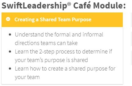 creating a shared team purpose