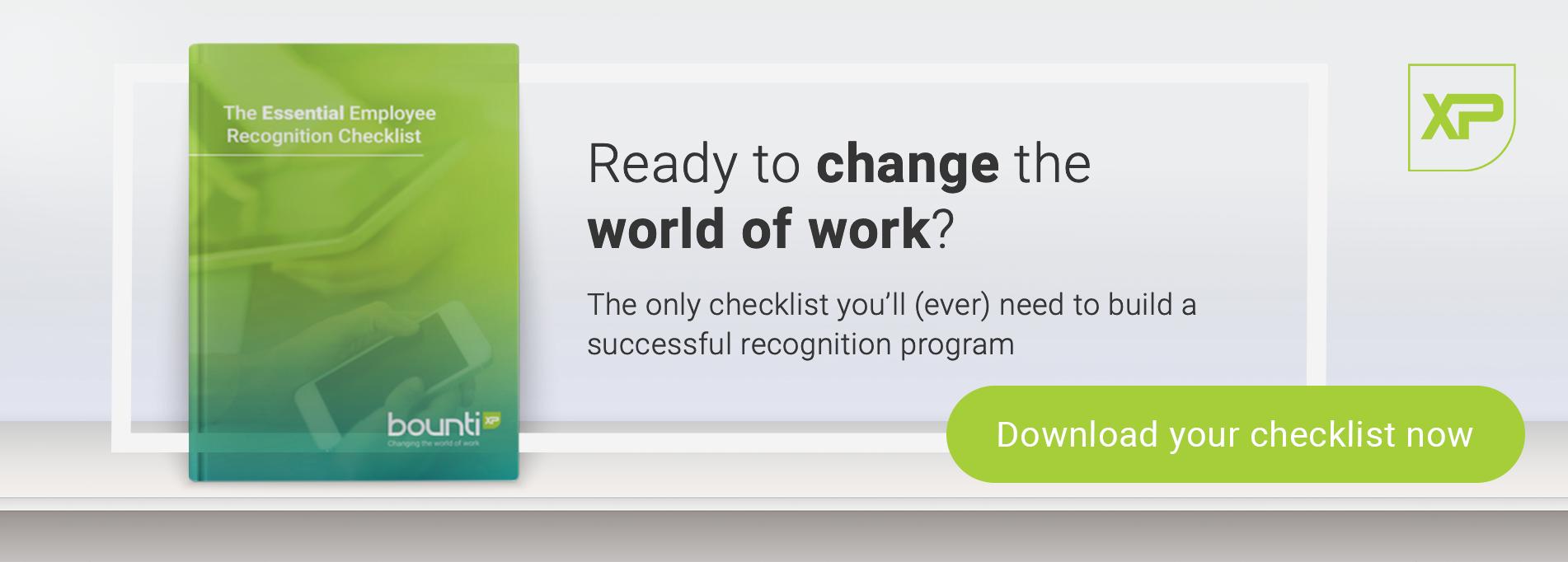employee recognition checklist