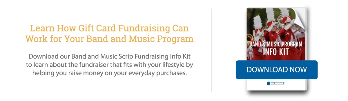 Download the Band and Music Scrip Fundraising Info Kit