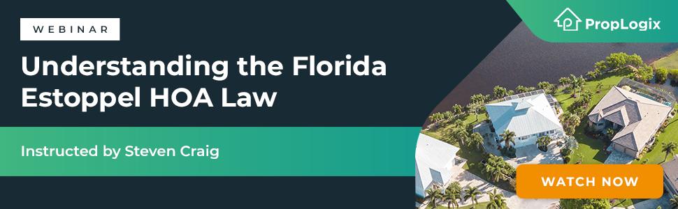 Webinar Registration Link - Understanding the Florida Estoppel HOA Law