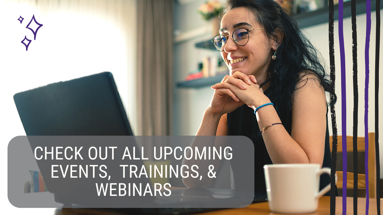 woman viewing nifty method events, trainings, webinars