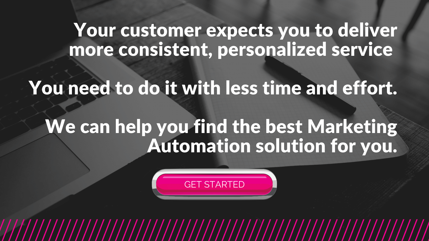 find marketing automation solution with Nifty Method in pink